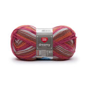 Red Heart Dreamy Stripes Yarn, Sunset