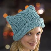 Red Heart Floppy Crochet Hat, S