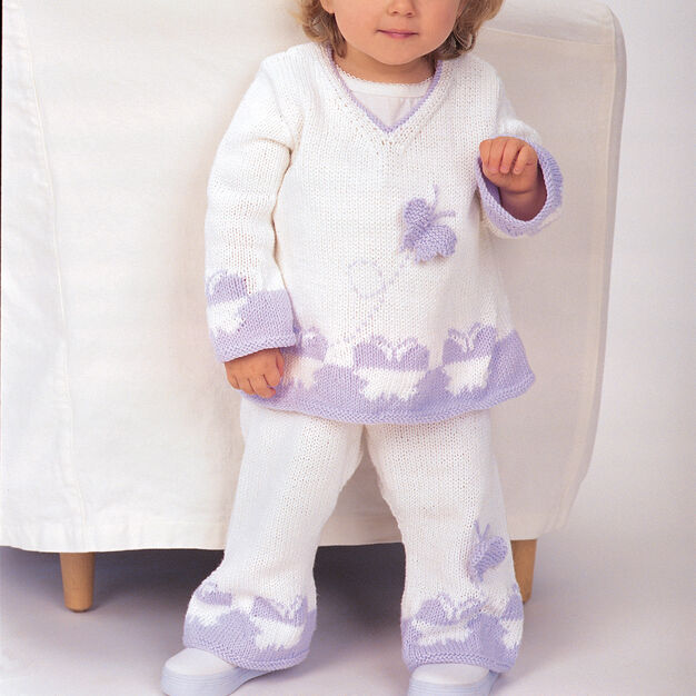Patons A-Line Butterfly Set, Tunic - 6 mos in color