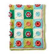 Go to Product: Caron Floral Granny Crochet Afghan, Version 1 in color