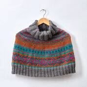 Patons Fair Isle Knit Capelet, XS/M