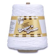 Lily Sugar'n Cream Cone Yarn (400g/14 oz), White