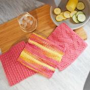 Red Heart Sailor's Rib Stitch Washcloth