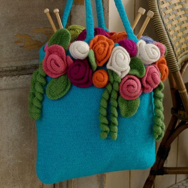 Red Heart Rose Garden Tote in color