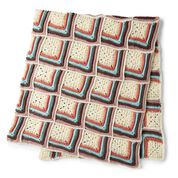 Go to Product: Caron Crochet Stripy Texture Motif Blanket in color