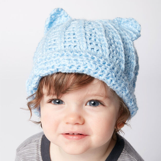 Bernat Baby Crochet Kitty Hat in color