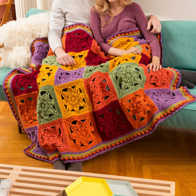 Red Heart Fabulous Fall Throw