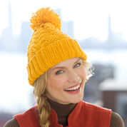 Red Heart Horseshoe Cable Hat