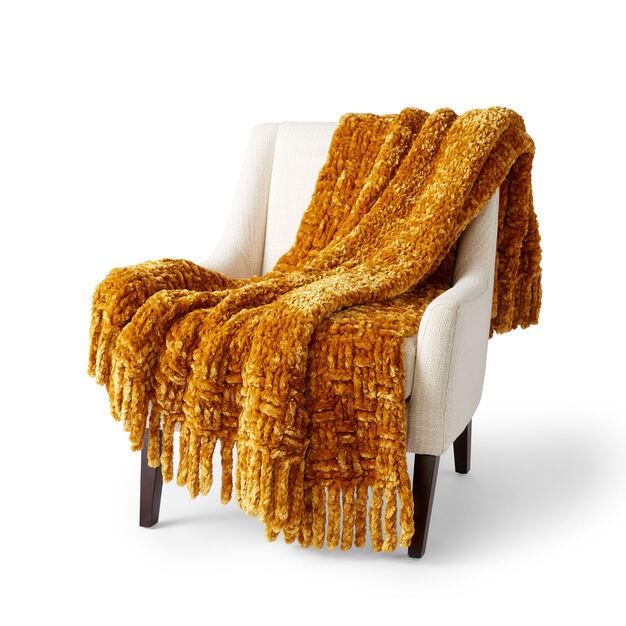 Bernat Crochet Big Basketweave Blanket in color