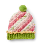 Caron Sweet Swirl Crochet Cupcake Hat, 6-12 mos