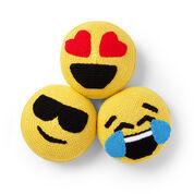 Caron Crochet Emoji Pillows