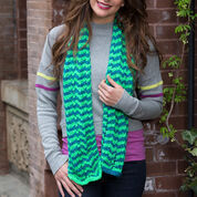 Red Heart Wavy Stripes Scarf