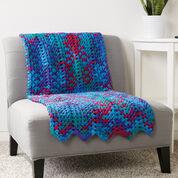 Caron Granny Stitch Chevron Blanket