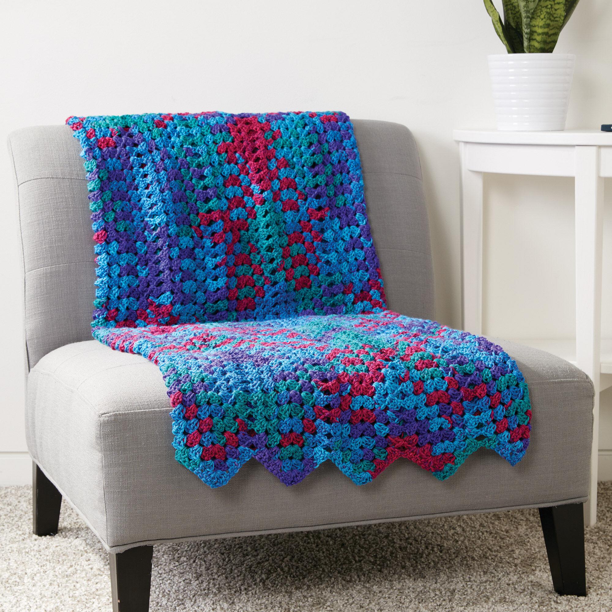 Caron Granny Stitch Chevron Blanket   Yarnspirations