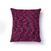 Bernat Basketweave Crochet Pillow