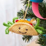 Red Heart Tasty Taco Ornament