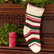 Red Heart Christmas Stocking