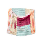 Caron x Pantone Color Block Crochet Cowl