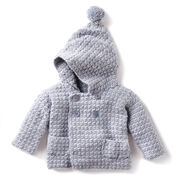 Bernat Cozy Crochet Hoodie, 6 mos