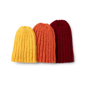 Caron The Everybody Knit Hat, Burgundy - Child 2/4 yrs