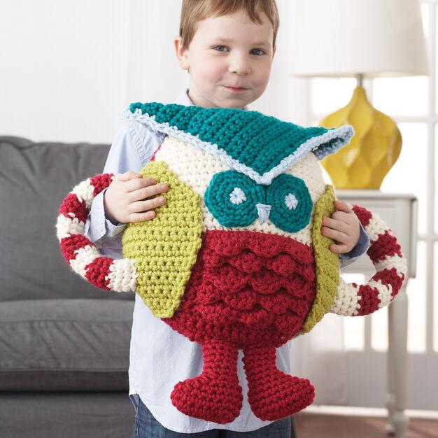 Bernat Huggable Owl Pillow in color