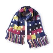Caron Hollow Miters Knit Scarf