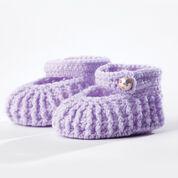 Bernat Crochet Booties, 3/6 mos