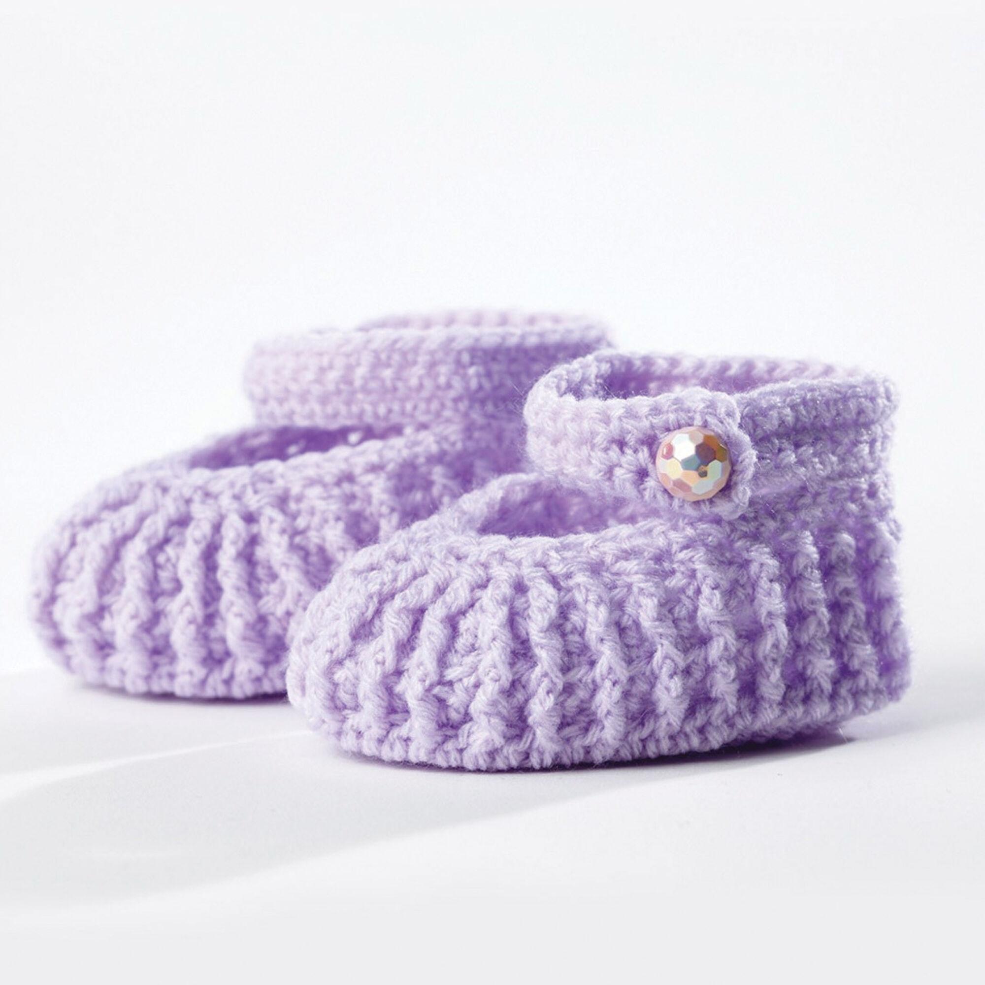 Bernat Crochet Booties 36 Mos Yarnspirations