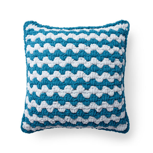 Bernat Granny Striped Crochet Floor Cushion in color