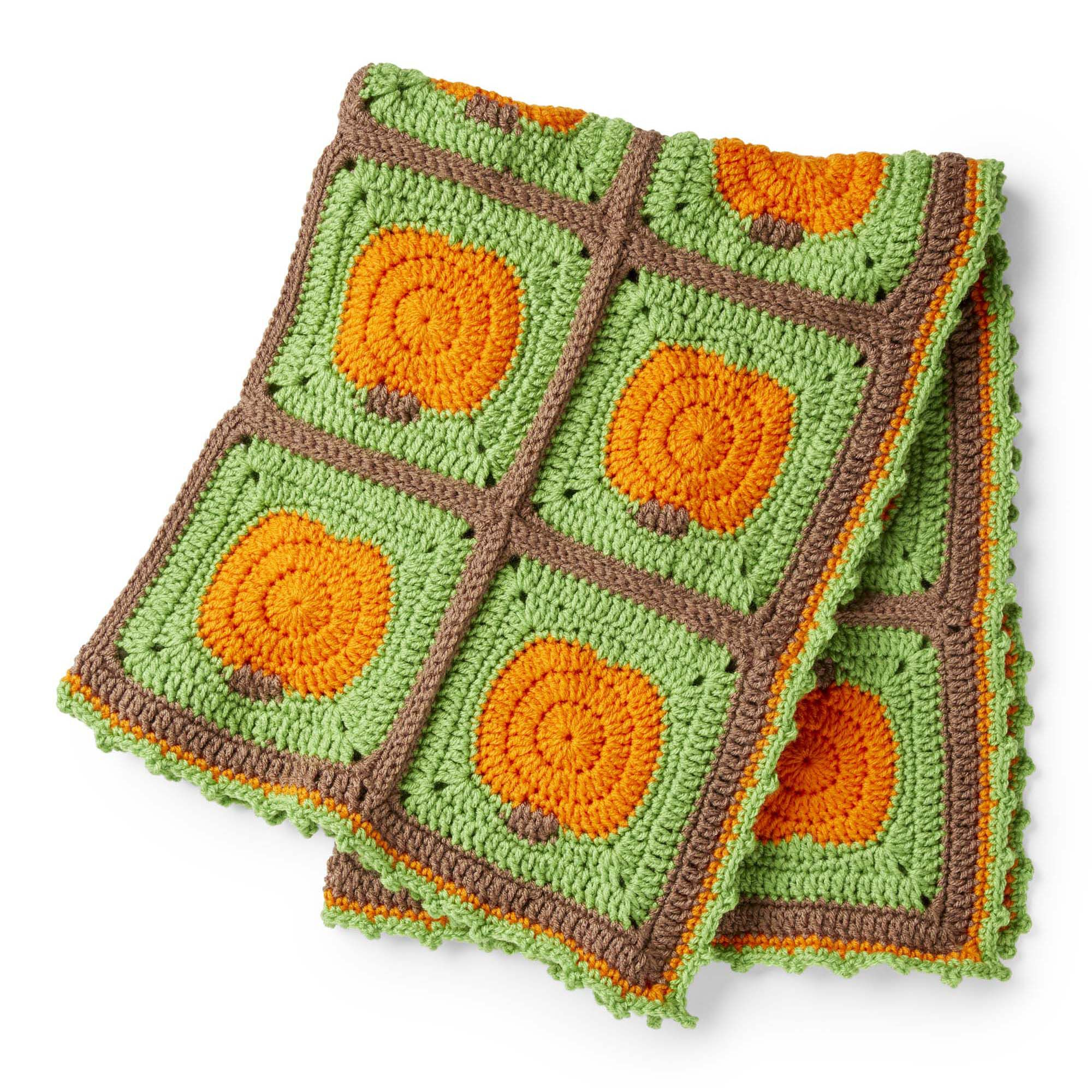 Red Heart Crochet Pumpkin Patch Blanket   Yarnspirations
