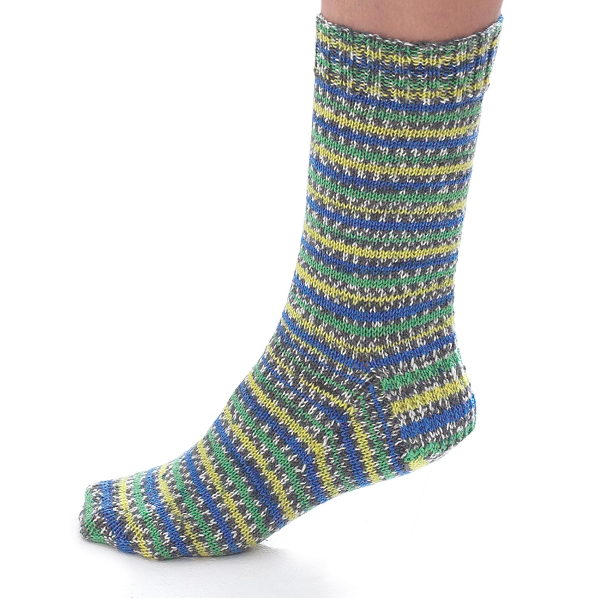 Patons Jacquard & Stripe Socks, S   Yarnspirations