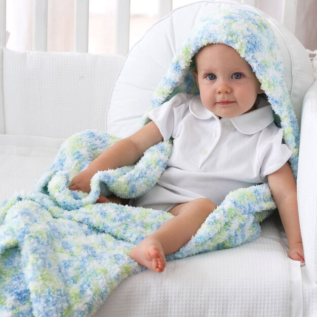 Bernat Blanket with Hood in color