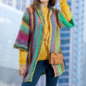 Red Heart Easy-to-Wear Cardigan, S
