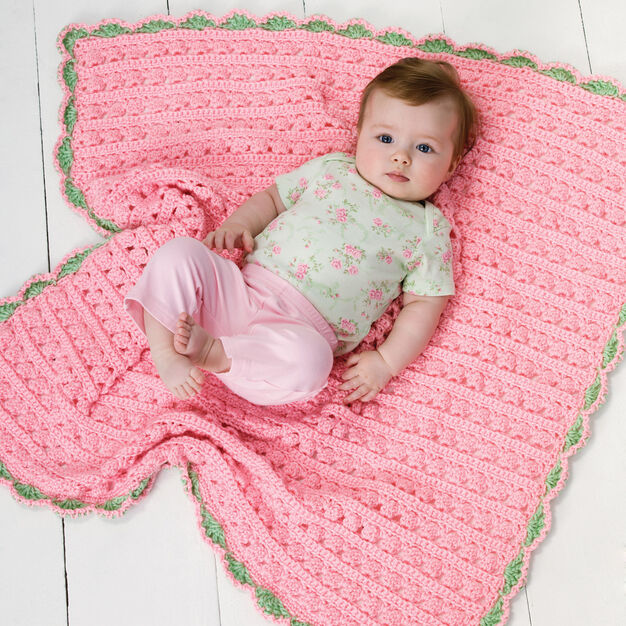 Red Heart Cuddle & Coo Blanket in color