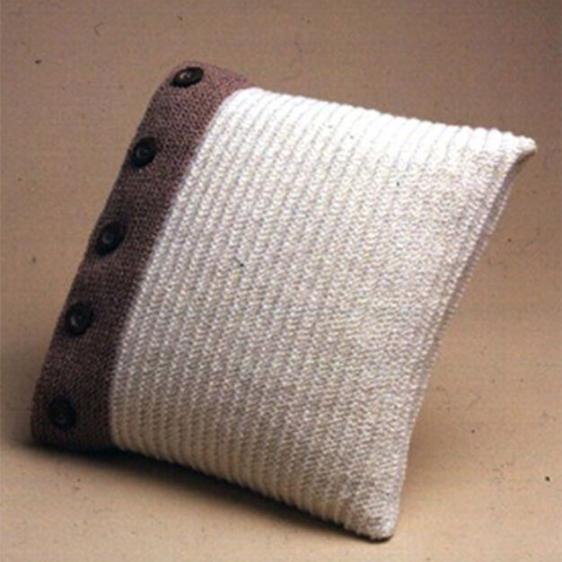 Patons Buttoned Up Pillow in color