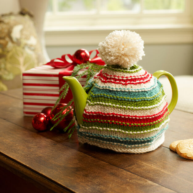 Red Heart Holiday Teapot Cozy, S in color