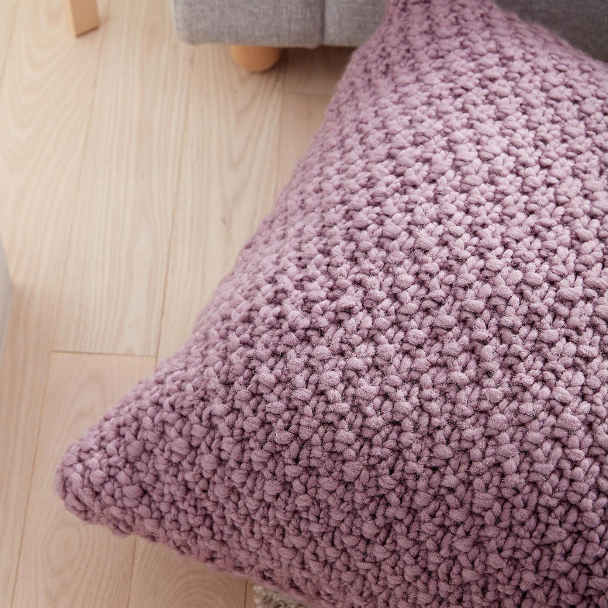 Patons Irish Moss Knit Floor Pillow Pattern Yarnspirations