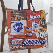 Dual Duty Sweet Satchel Tote from Candy Labels