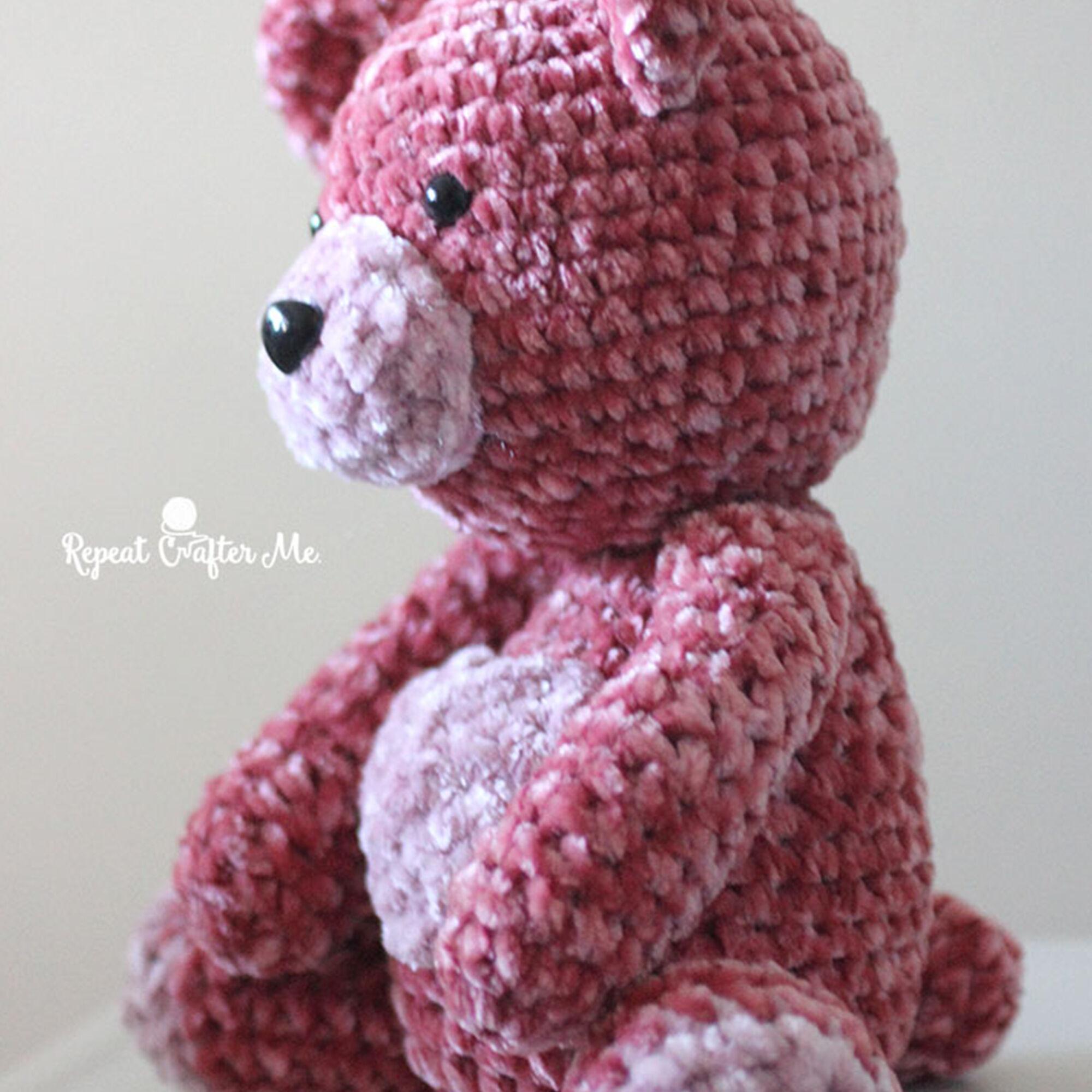 Bernat Velvet Valentine Crochet Bear Yarnspirations