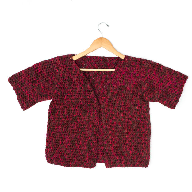 Caron Anywhere Short-Sleeved Cardi, S in color