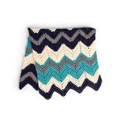 Caron Crochet Chevron Blanket