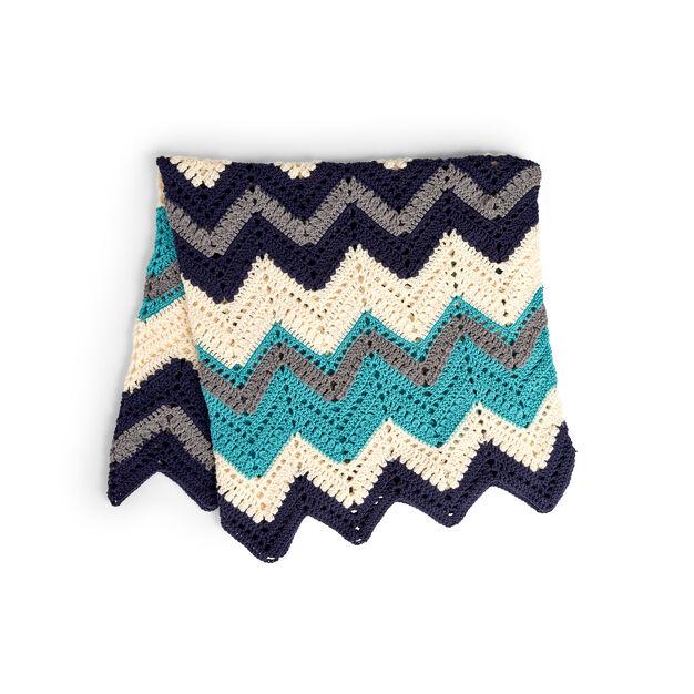 Caron Crochet Chevron Blanket Pattern Yarnspirations