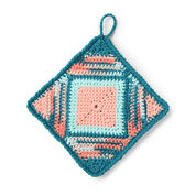 Lily Sugar'n Cream Playing the Angles Pot Holder