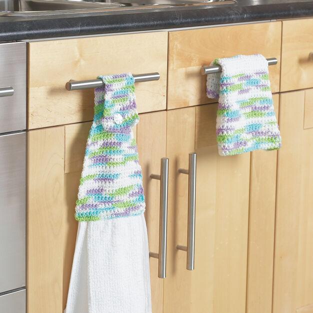 Bernat Towel Topper & Dishcloth