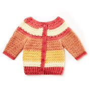 Bernat Baby Stripes Sweater, 6 mos