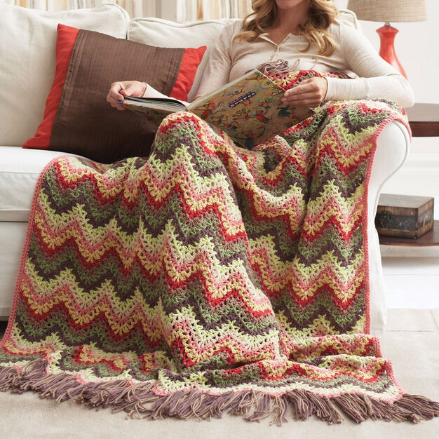Bernat Eight Shades Ripple Afghan in color