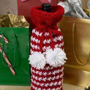 Red Heart Holiday Spirit Bottle Bag