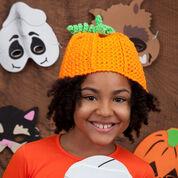 Red Heart Crochet Pumpkin Hat, Baby