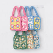 Go to Product: Lily Sugar'n Cream Granny Square Bags, Green Bag in color