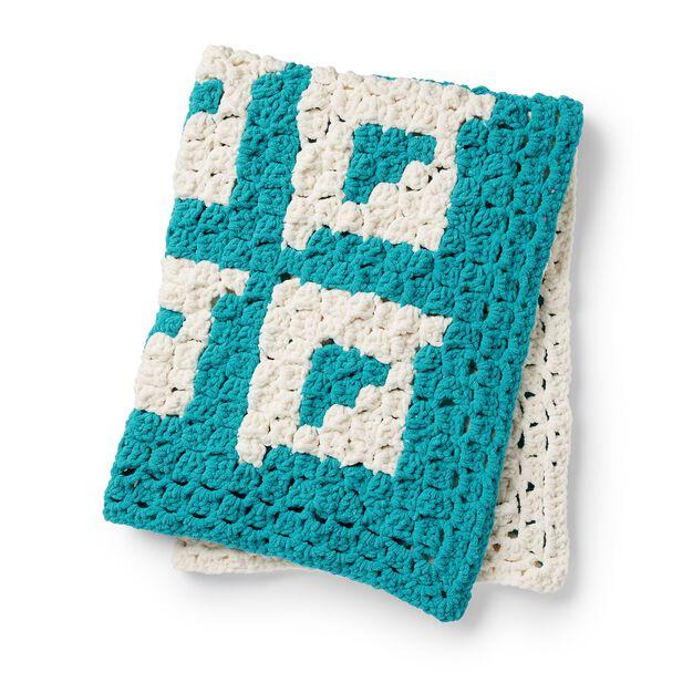 Bernat Shadow Box Crochet Blanket in color
